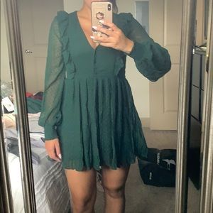 Green zara dress! Trf collection!